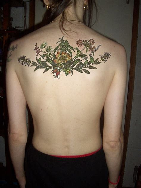 herb tattoo herbs something like this but a quarter sleeve