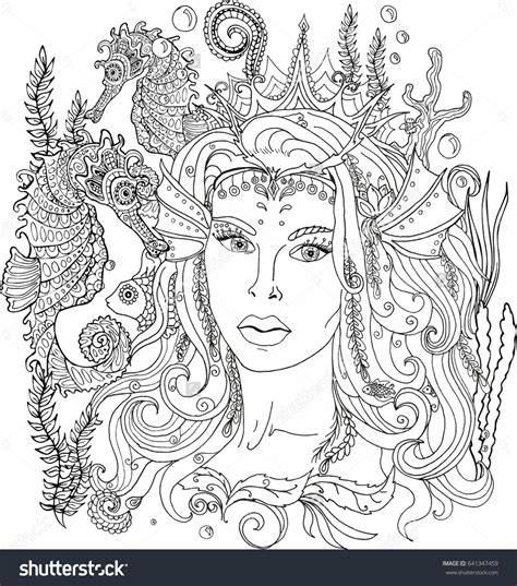 mermaid coloring pages for adults printable kid color pages the sea free coloring book