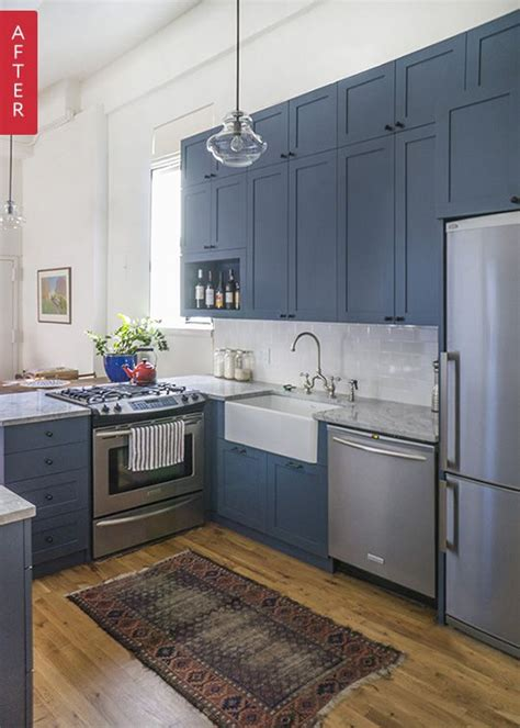 kitchen with blue cabinets best 25 blue cabinets ideas on blue kitchen