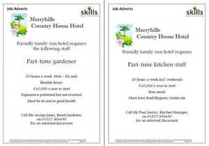 Job Adverts Skills Workshop
