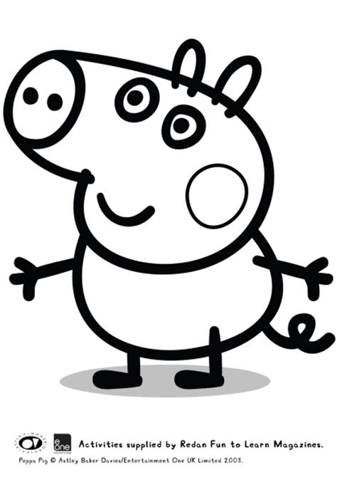 colouring pictures of peppa pig and george free coloring pages of a pig george