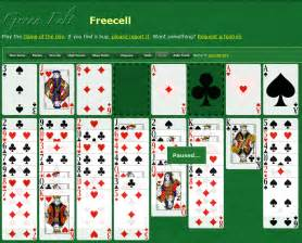 Another online version of freecell greenfelt freecell looks slick and