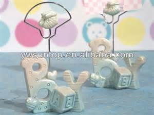 blue baby boy place card holders baby shower buy resin