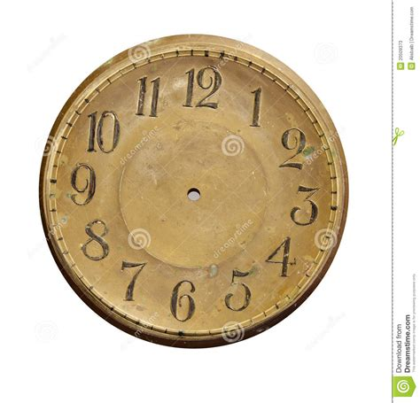 printable clock paddles isolated vintage brass clock face stock photos image