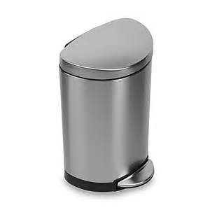 Proof Bathroom Trash Can Simplehuman 174 Brushed Stainless Steel Fingerprint Proof