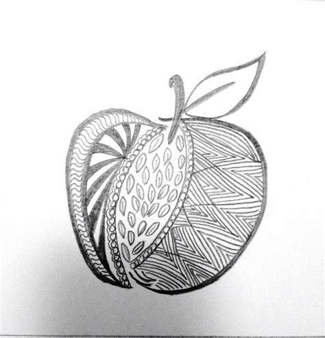 fruit zentangle 42 best zentangle fruit images on zen tangles
