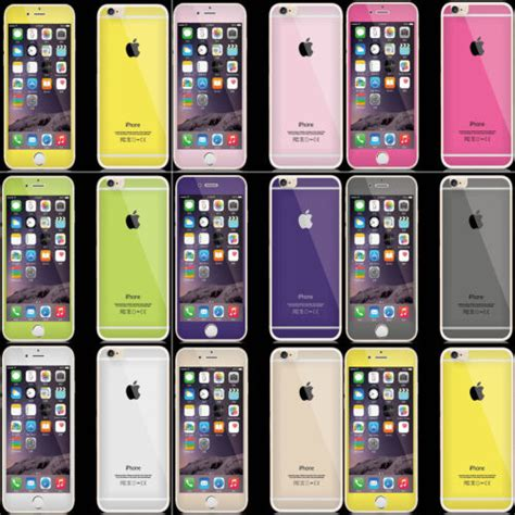 Tempered Glass Iphone 6 Front Back 8 color tempered glass screen protector cover for