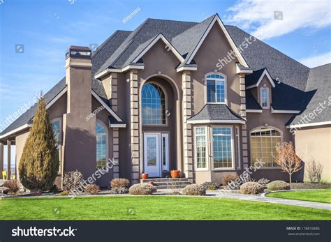 house videos suburban house on beautiful sunny day stock photo