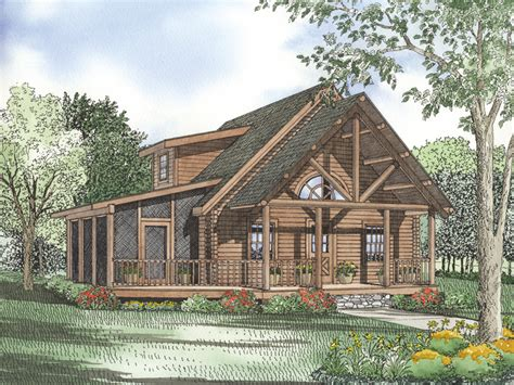 love this porch log cabin lodge pinterest elfin cove log cabin home plan 073d 0023 house plans and