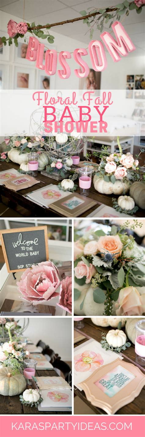 Ideas For Fall Baby Shower by Kara S Ideas Floral Fall Baby Shower Kara S