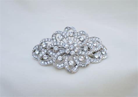 Rhinestone Hair Clip rhinestone barrette rhinestone hair clip bridal hair clip