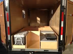 Pop Up Camper Floor Plans by Enclosed Trailer Camper Conversion Car Interior Design