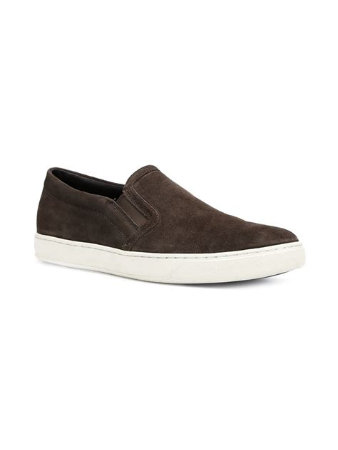 vince mens sneakers vince barron sneakers in brown for lyst