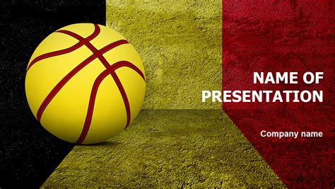 powerpoint presentation themes basketball belgium basketball ball powerpoint template for impressive