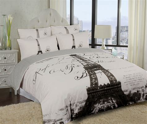 elegant paris eiffel tower bedding twin full queen duvet