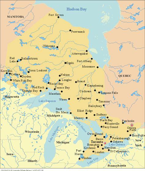 map of ontario lake ontario map images