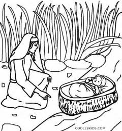 baby moses coloring page printable moses coloring pages for cool2bkids