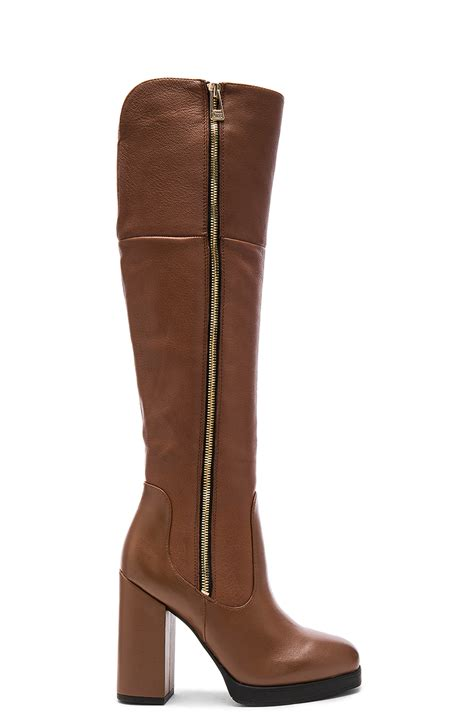 sam edelman boots circus by sam edelman hollands boot in brown lyst