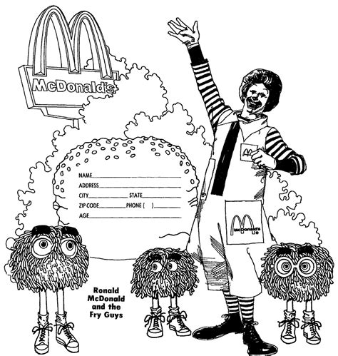 mostly paper dolls too ronald mcdonald and the fry guys