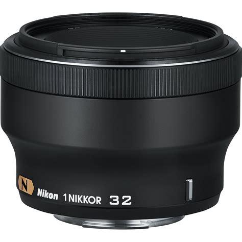 nikon 1 nikkor 32mm f 1 2 lens black 3359 b h photo