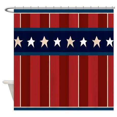 patriotic shower curtains patriotic americana stars stripes shower curtain by