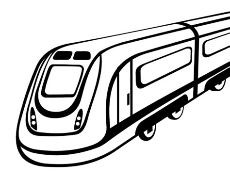 high speed rail coloring page coloringcrew com