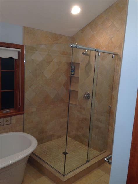 Glass Corner Shower Doors Glass Shower Enclosures Bathroom Renovations