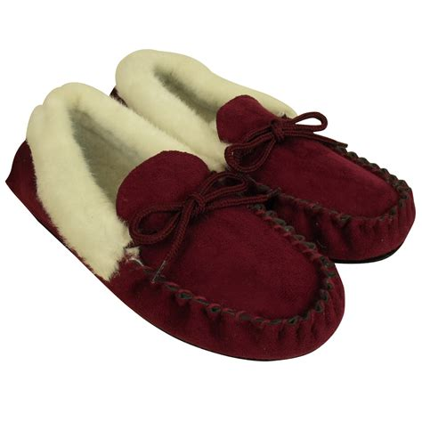 warm slippers moccasin faux suede leather slippers warm