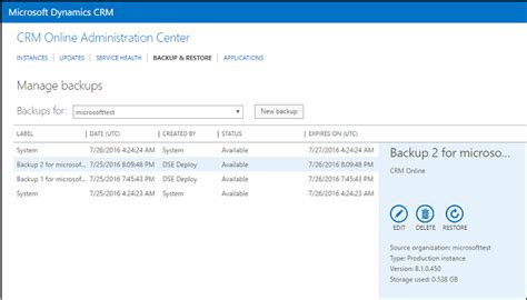 reset crm online instance backup and restore your crm online instance microsoft
