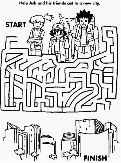 a4 printable maze pokemon maze hidden picture mazes pinterest pok 233 mon
