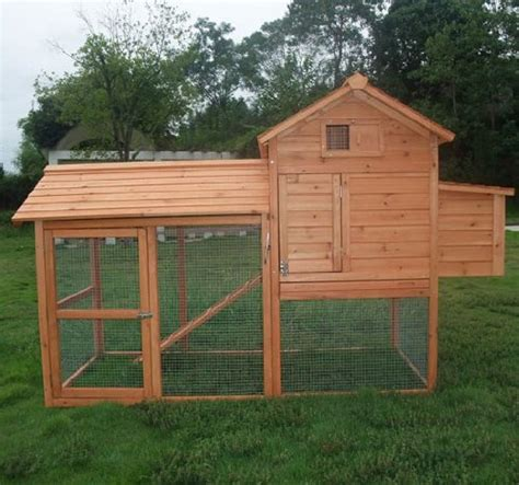 pawhut deluxe backyard chicken coop hen house rabbit