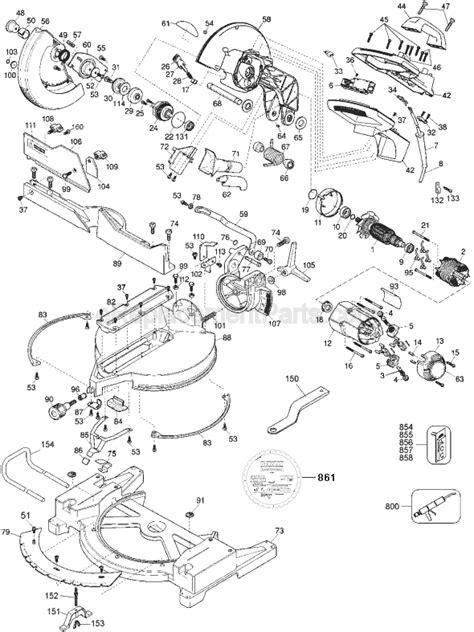Dewalt Dw705 Parts List And Diagram Type 6