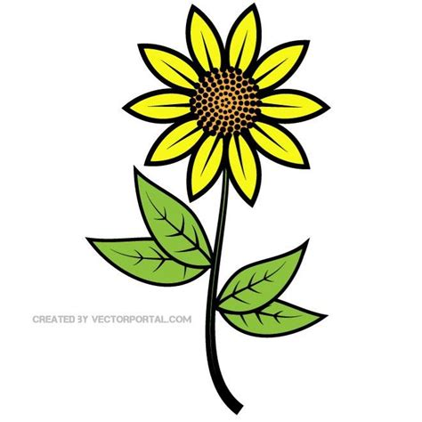 free vector clipart sunflower vector clip at vectorportal