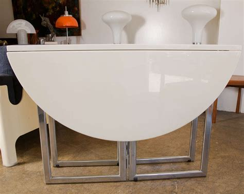 Italian Kitchen Table Italian Drop Leaf Dining Kitchen Table In Chrome Laquer At 1stdibs