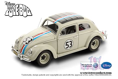 Hotwheels Vw Herbie 1962 volkswagen herbie 53 by mattel wheels elite the bug 1 18 scale diecast model car