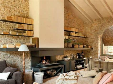 chimeneas de salon 20 fotos con ideas de chimeneas r 250 sticas para tu sal 243 n