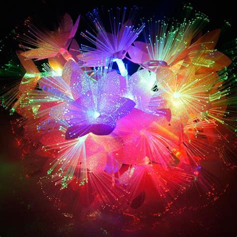 Fiber Optic Flower L by 10m 60 Led Rgb Fiber Optic Flower Light String