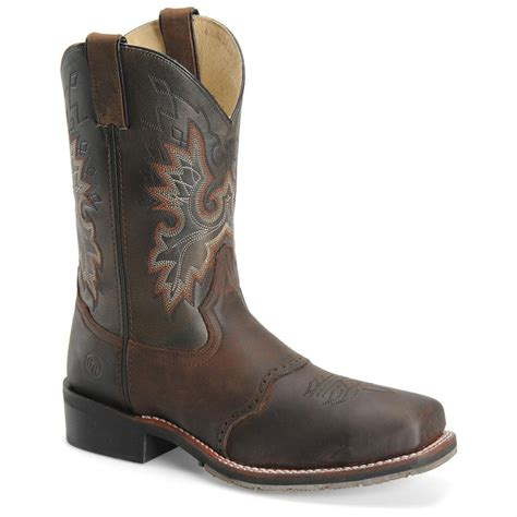 s h 174 11 quot square steel toe roper work boots