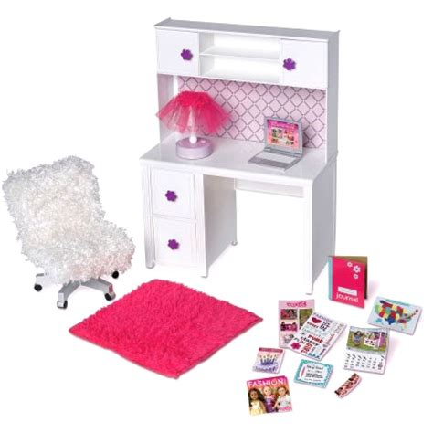18 doll desk my life desk and chair doll 18 room set barbie
