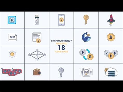 Cryptocurrency Animated 18 Icons Pack After Effects Template Youtube Animated Emoticons Pack After Effects Template