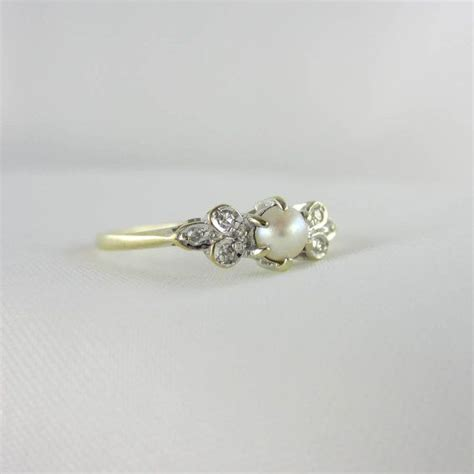 pearl engagement rings vintage engagement rings with pearls www imgkid