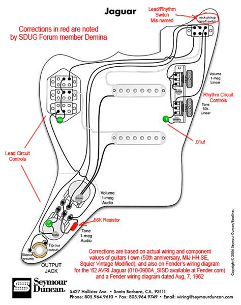 squier jaguar b wiring diagram get free image about