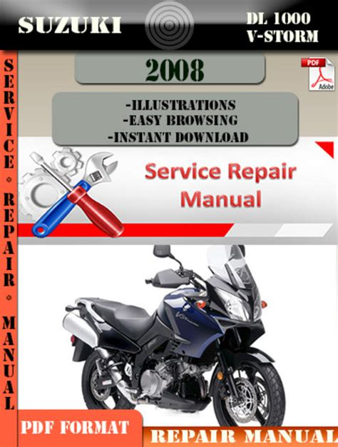 suzuki dl1000 v strom factory service repair manual pdf pdfsr com suzuki dl 1000 v strom 2008 digital service repair manual downloa