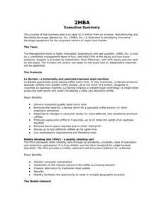 executive summary resume exle how to write an executive summary exle for your