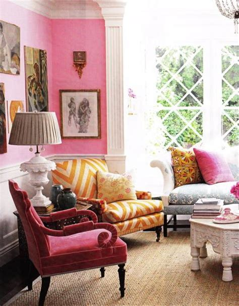 pink living room pink and red rooms the decorologist