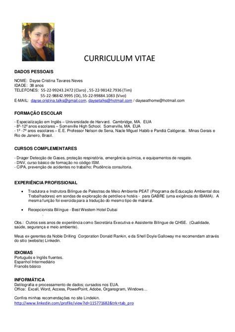 Modelo Curriculum Vitae De Secretaria Dayse Cv