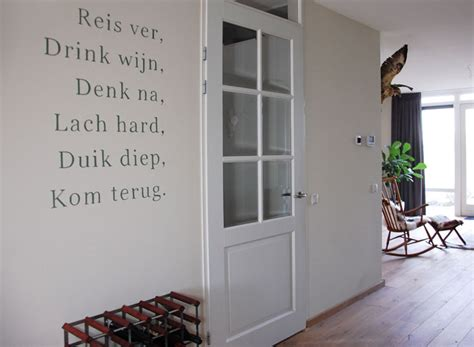Muurstickers Voor Woonkamer by Woonkamer Tekst Muurdecoratie