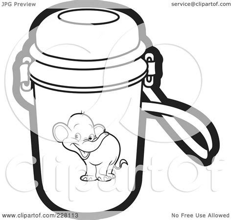 water jug coloring page royalty free rf clipart illustration of a coloring page
