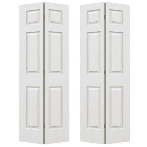 72 Closet Doors Jeld Wen 72 In X 80 In Colonial Primed Textured Molded Composite Mdf Closet Bi Fold Door