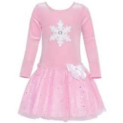 bonnie jean little girls pink glitter snowflake applique